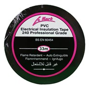 PVC Electrical Insulation Tape 12mm Wide Black 33Mt Roll *BS 60454