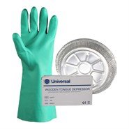 Silmid Mixing SilKit (Includes 5 x Metal Dish, 1 x Pack of 100 Tongue Depressor & 1 x Pack of 12 Nitrile Gloves)