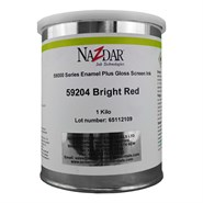 Tec Nazdar 59000 Bright Red Enamel Plus Gloss Screen Ink 1USQ Can
