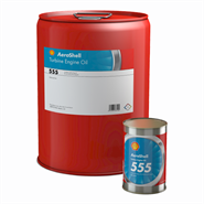Aeroshell Turbine Oil 555 available in various sizes
