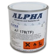 Alpha AF178TF High Heat Resistant Adhesive (Toluene Free) in various sizes