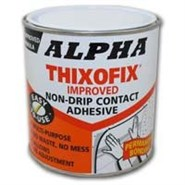 Alpha Thixofix Easy Spread Contact Adhesive in various sizes