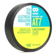 Advance Tapes AT7 PVC Electrical Insulation Tape Black 25mm x 33Mt Roll *BS 60454