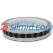 H143B Silicone Adhesive Black Polyimide Spots 8mm 1000 Per Roll