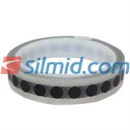 H143B Silicone Adhesive Black Polyimide Spots 9mm 1000 Per Roll