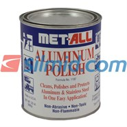 Met-All Industries Aluminium & Stainless Polish 32oz Metal Can